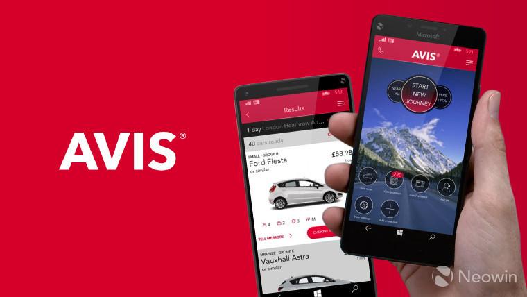 Car rental giant AVIS launches new app for Windows phones - Neowin