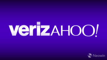 Text reading Verizahoo! a portmanteau of Verizon and Yahoo names