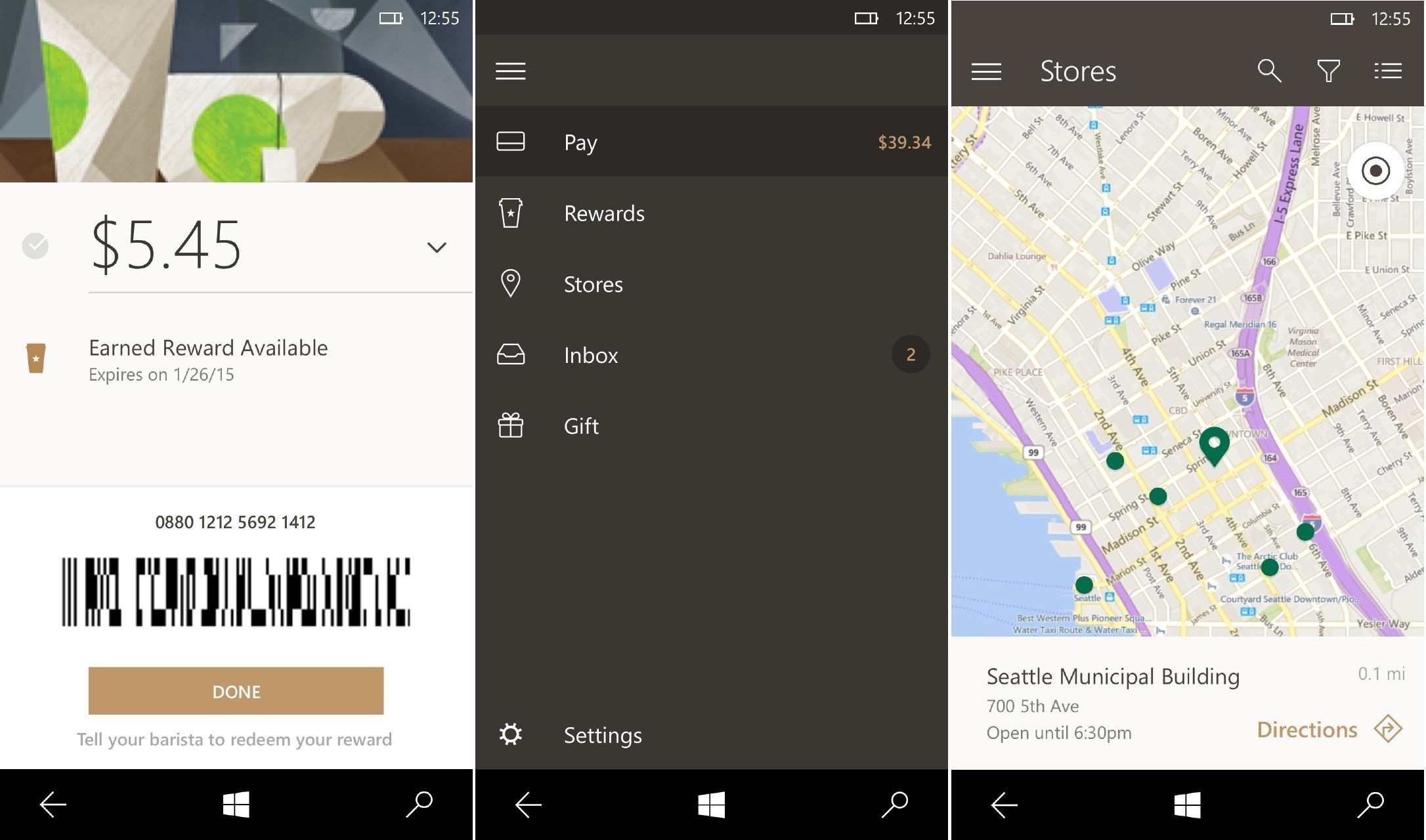 Official starbucks app now available for windows 10 mobile for Windows official site