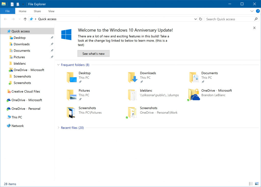 Here S What New In Windows 10 For Pcs Build 14901 The First Redstone 2