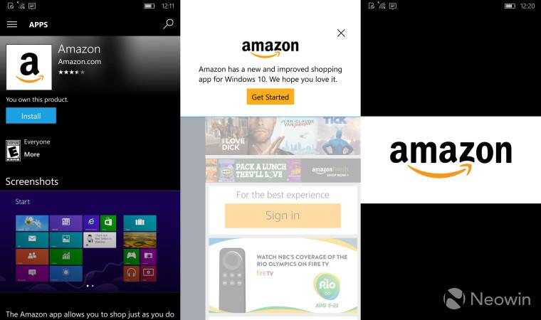 Amazon App Windows