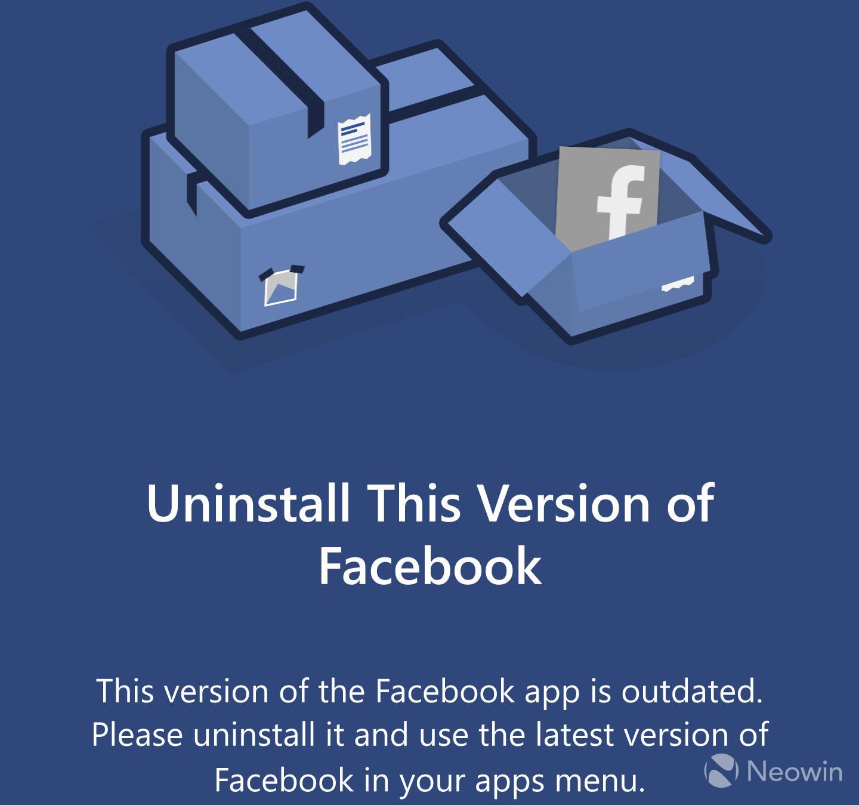 Microsoft kills off its Facebook app for Windows 10 Mobile