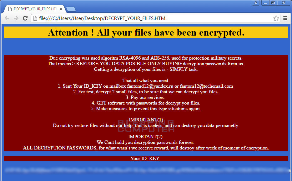 Fantom ransomware pretends to be Windows Update while it