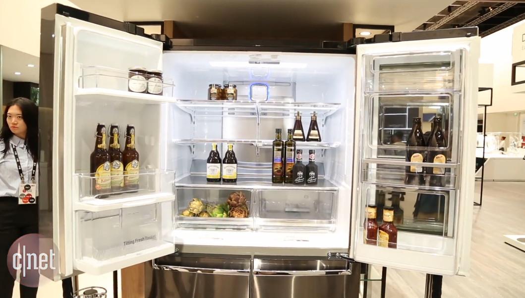 This Lg Refrigerator Runs Windows 10 With Cortana And Has A