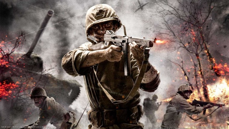 This is a promotional image of Call of Duty World at War