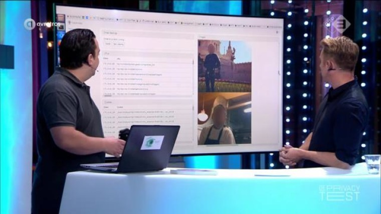 Dutch TV program promoting online privacy ironically ...