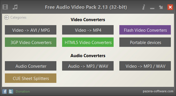 Pazera Free Audio Video Pack