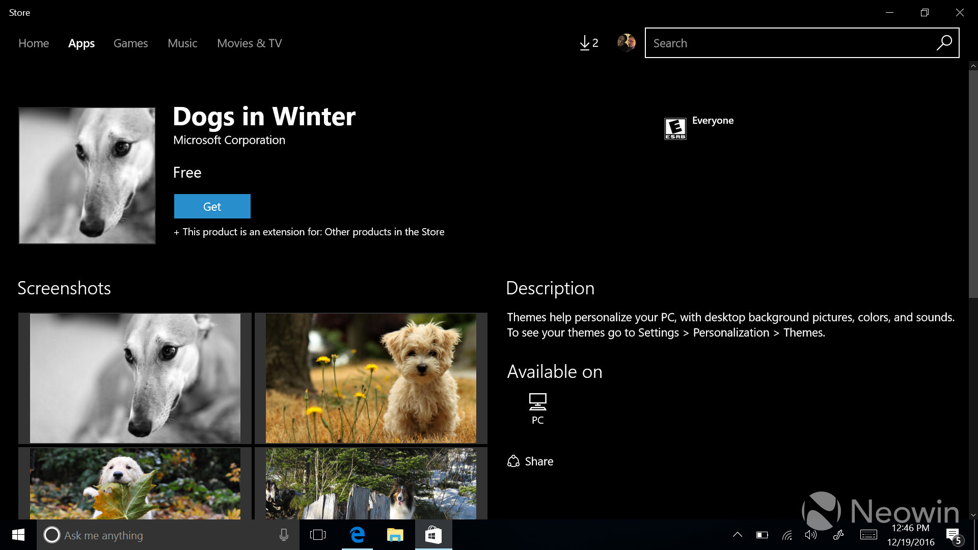 First themes for Windows 10 appear in the Store for Insiders - Neowin