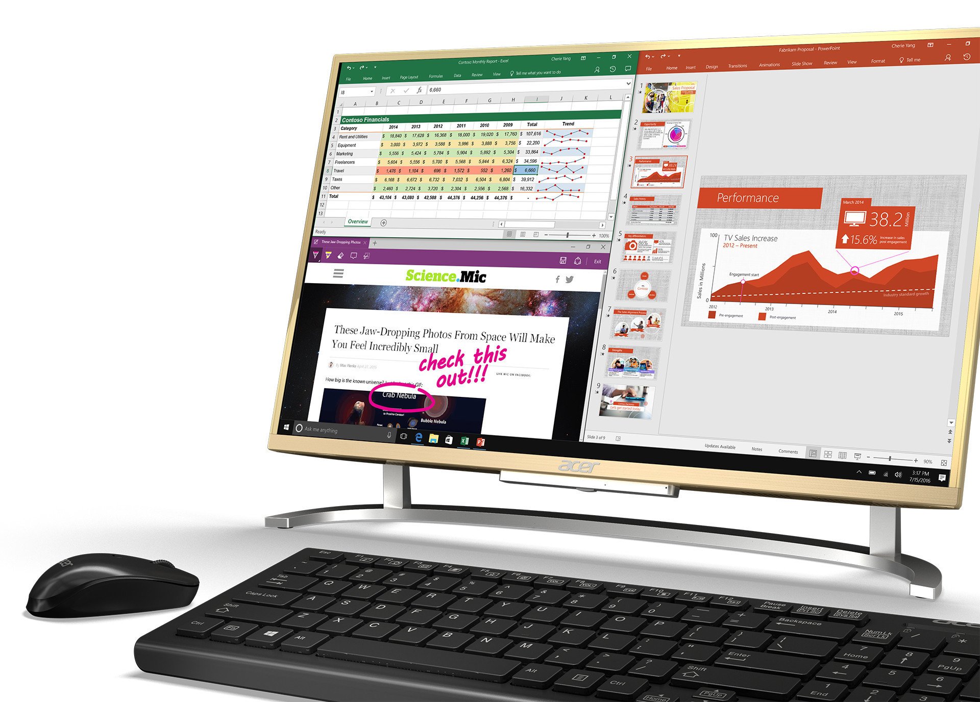 Don T Be Misled By This Acer Image The Aspire C Has No Touchscreen Or Stylus Support