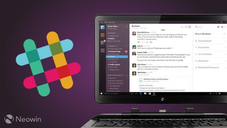 Slack on desktop