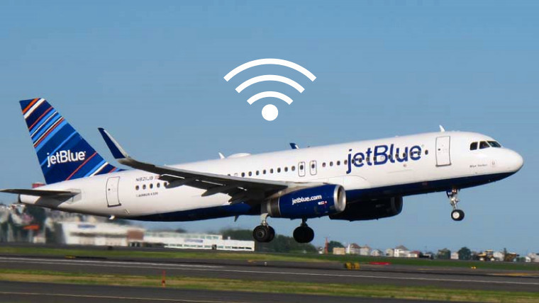 jetblue 39 s entire fleet now offers free high speed wi fi at every seat neowin. Black Bedroom Furniture Sets. Home Design Ideas