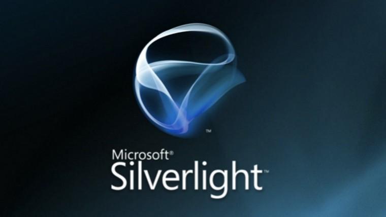 Microsoft Silverlight logo on a dark and blue background
