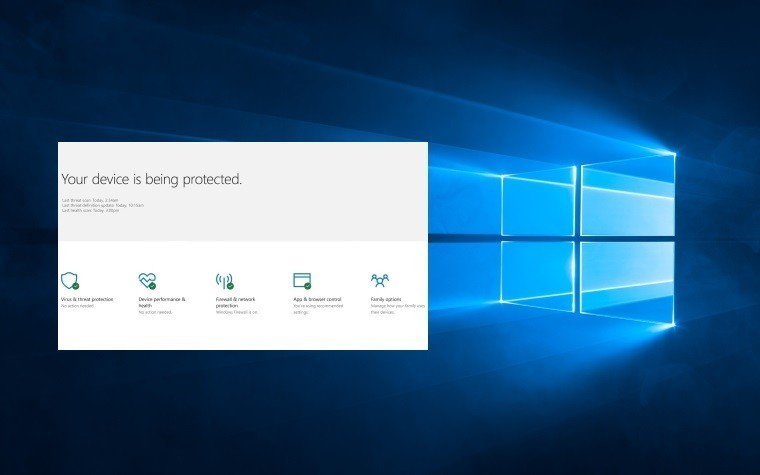 Windows 10 remove windows defender security center from