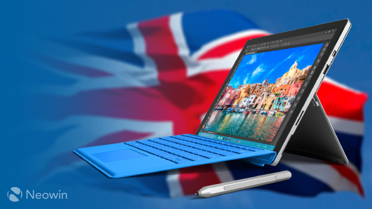 Surface Pro 4 i5 with 256GB SSD available in UK with Type
