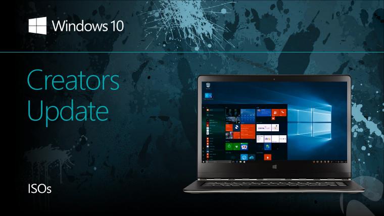 Microsoft publishes ISOs for Windows 10 Creators Update build 15063