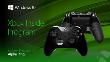 Xbox Insider Program text with green background and Elite Controller