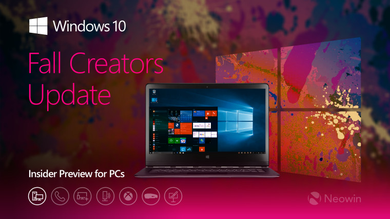 Windows 10 build 16215 heads to PCs in Fast ring, with new
