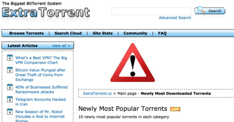 extratorrents.cc website