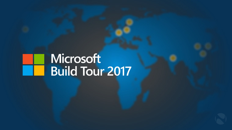 microsoft announces build tour 2017 coming to eight cities around