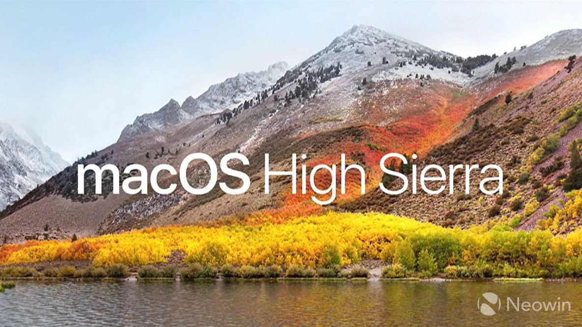Apple releases macOS 10 13 2 High Sierra - Neowin