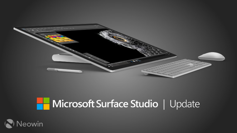 Surface Studio gets a huge list of firmware and driver
