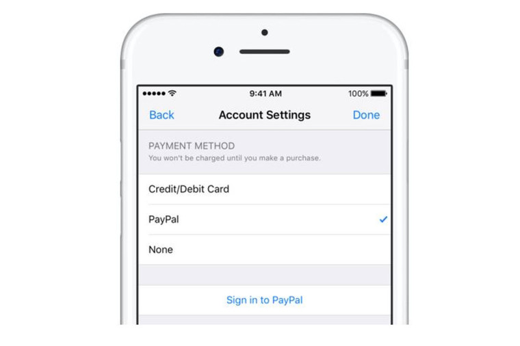 Apple embraces PayPal by adding it as a payment option in the App