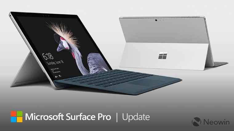 Surface Pro (2017) and Surface Pro 6 get long lists of