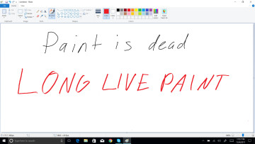 Paint is dead long live Paint written text in Paint