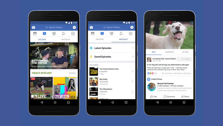 Facebook Watch On-Demand Video Platform Rolling Out Worldwide
