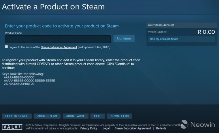 how to add steam key on browser