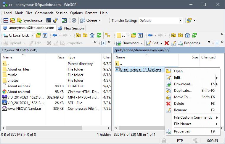 WinSCP 5 13 4 Build 8731 - Neowin