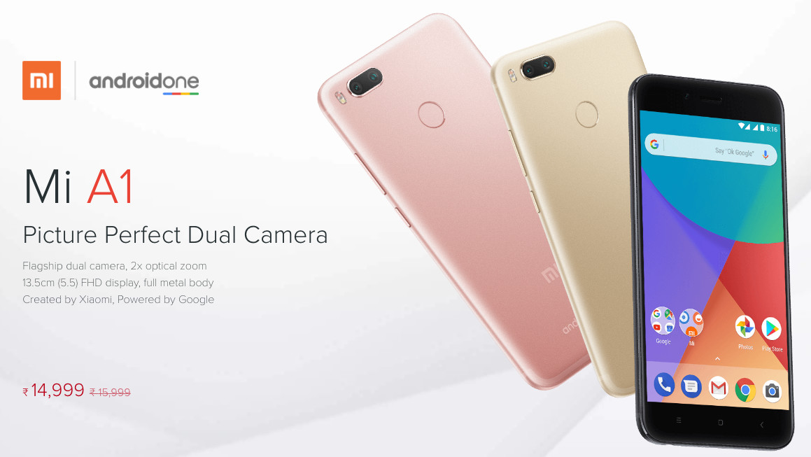 Android One returns as Google partners Xiaomi for Mi A1