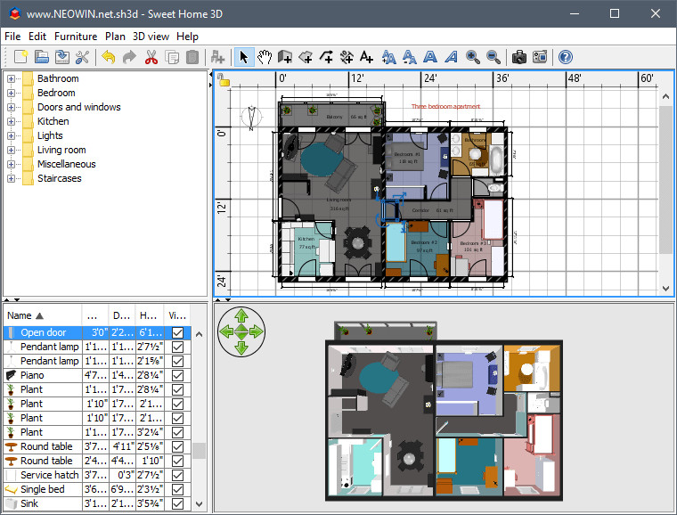 Sweet Home 3d Open Source Free Home Design Software Homemade Ftempo