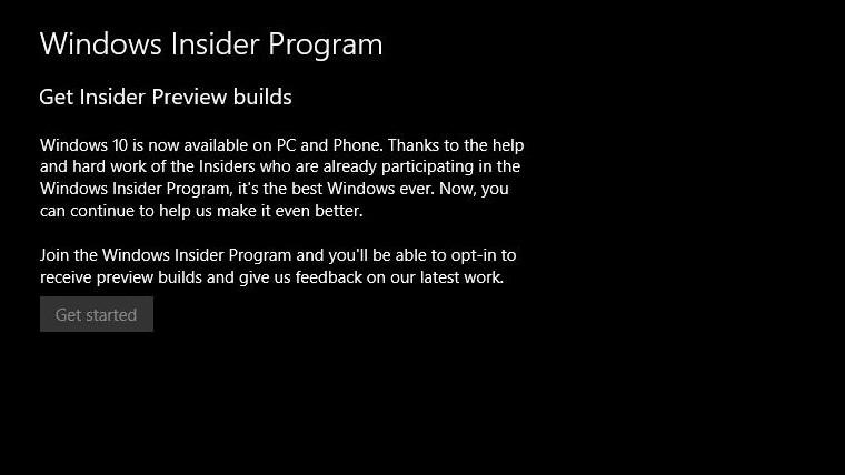 FYI: Windows Insider Program