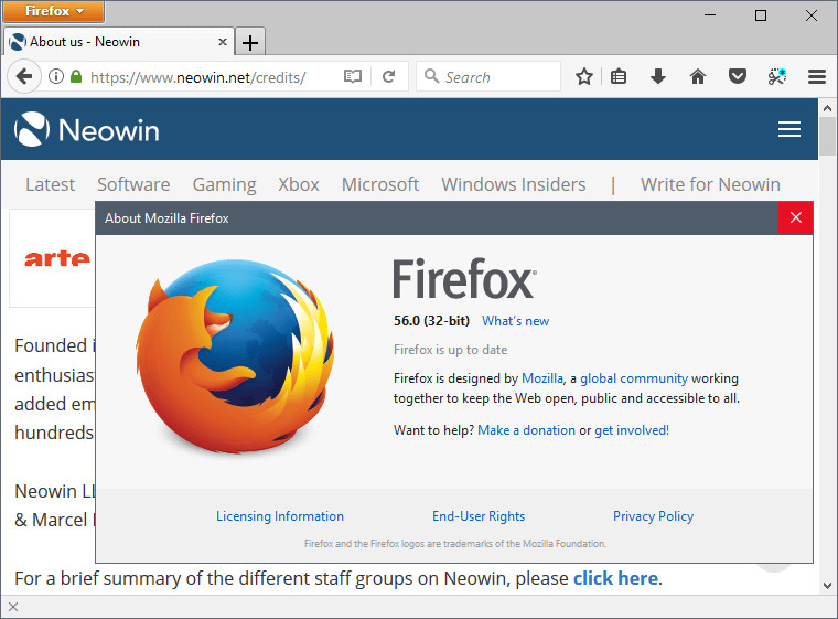 Firefox 56 0 released for download - Neowin