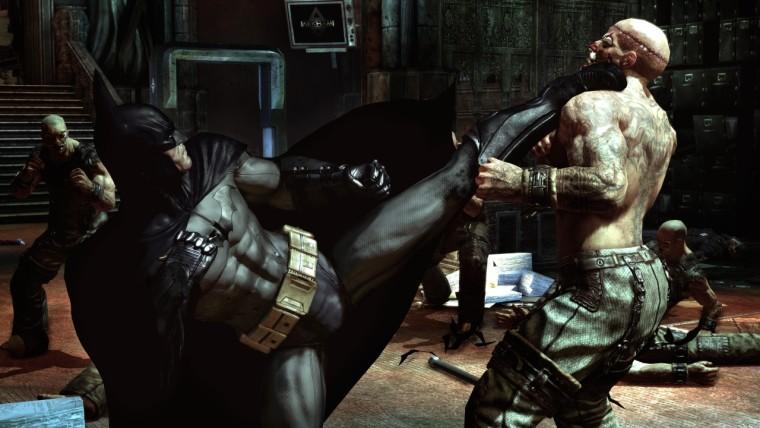 Batman beating up one of Jokers goons