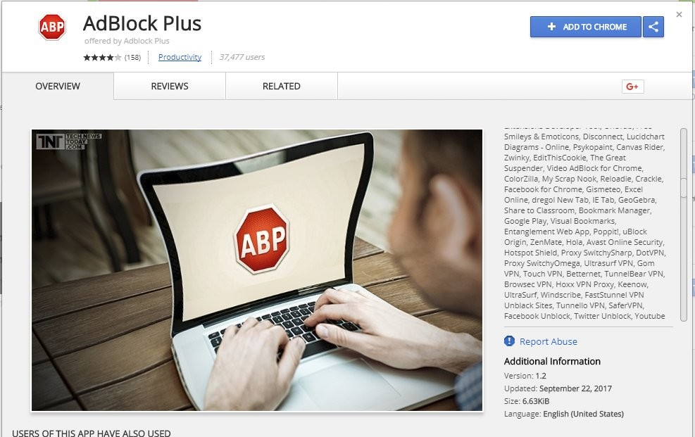 Fake Adblock Plus extension downloaded from Chrome Store over 37000 times