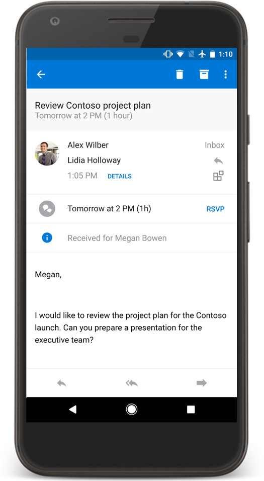 Outlook for iOS and Android updated with more calendar