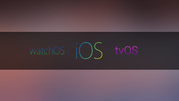 Stylized text that says watchOS, iOS, and tvOS