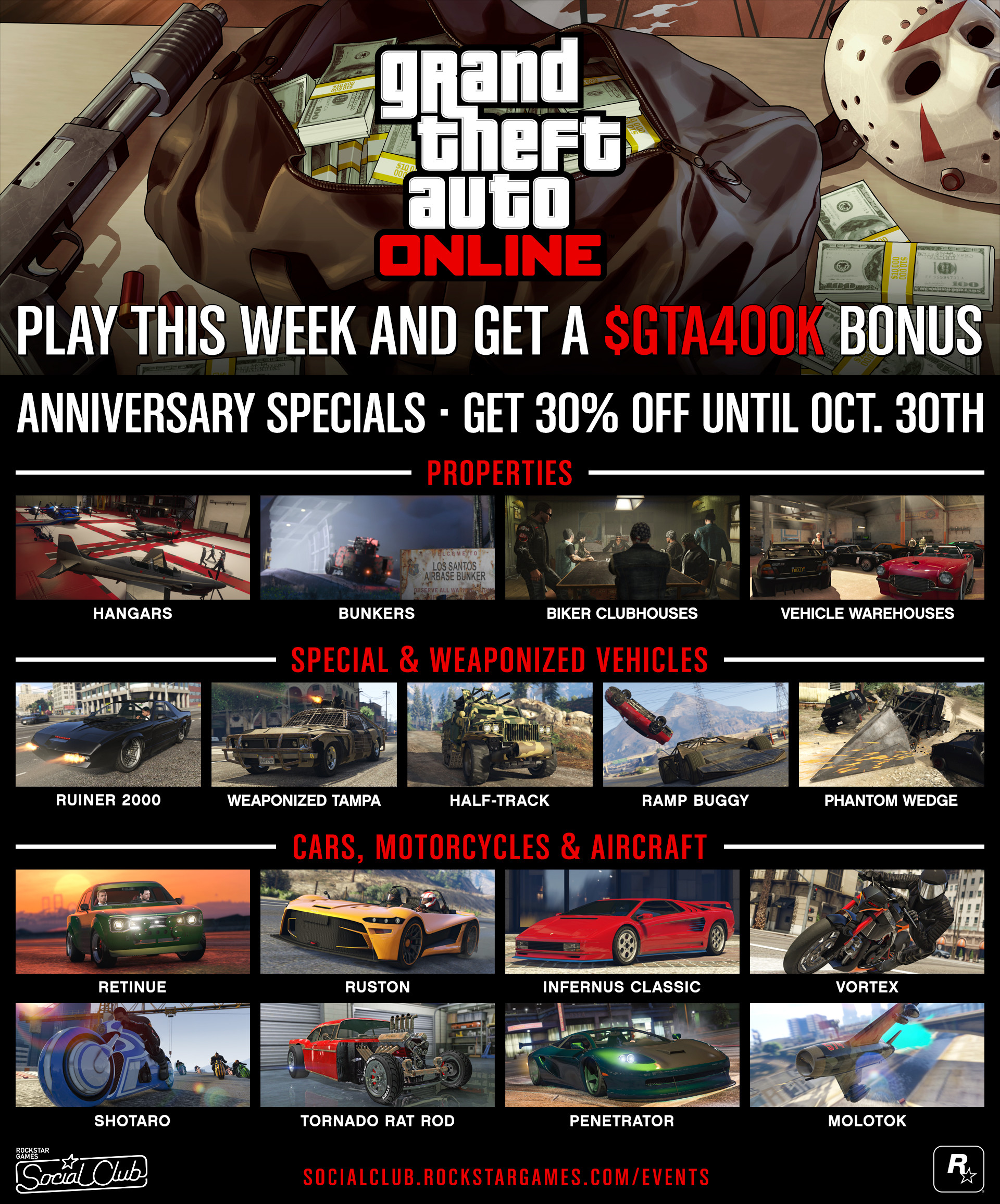Earn GTA$400,000 by logging into GTA Online through Nov 6th - Neowin