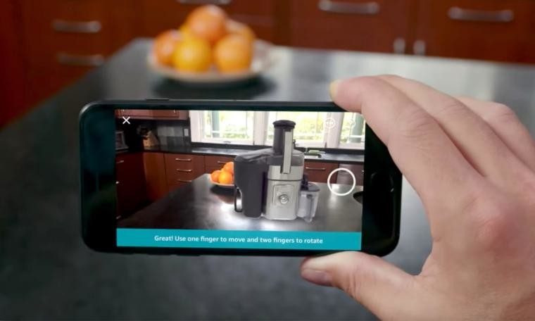 Amazon Updates Its iOS App With AR Shopping Feature