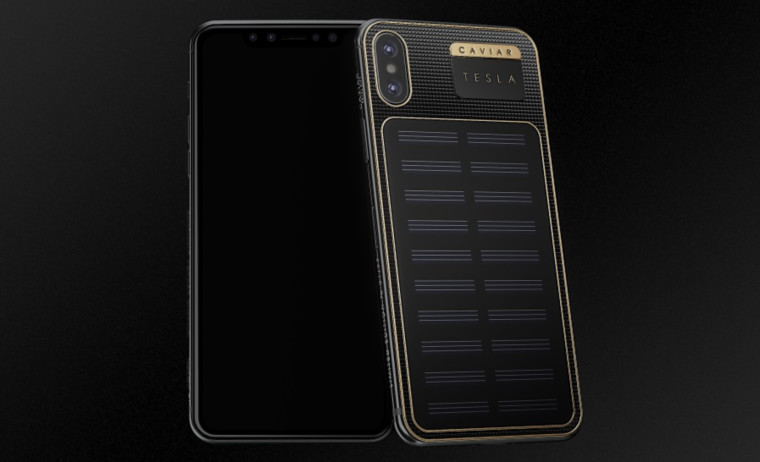 IPhone X Tesla with a Solar Panel Now Available for $4500