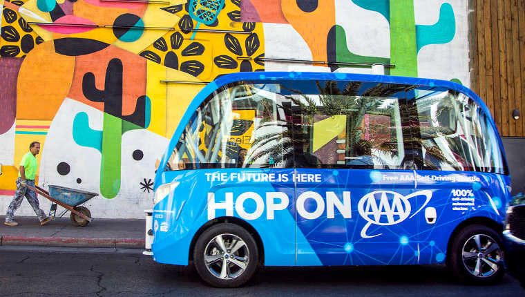 Driverless shuttle in Las Vegas crashes within hours of debut