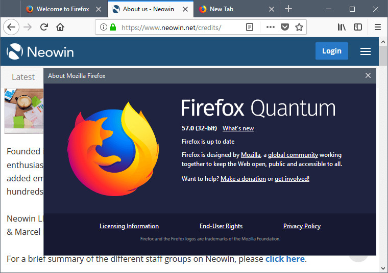 Mozilla Firefox Live With New Version