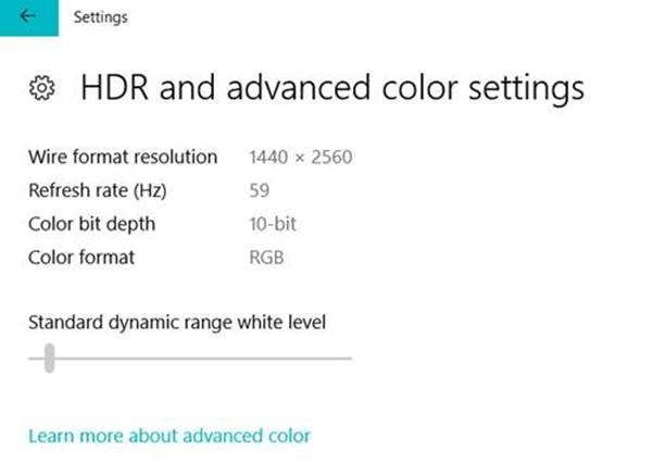 Windows 10 preview build improves HDR settings