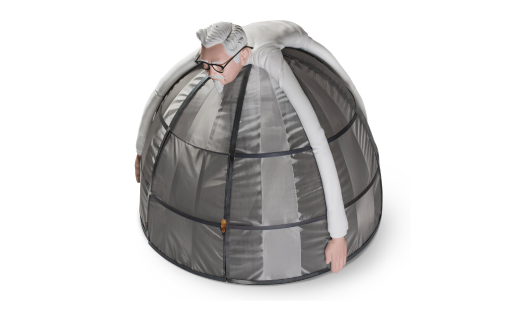 KFC's special tent to protect you from internet