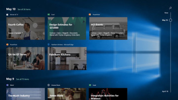 Screenshot of the Windows Timeline feature in Windows 10