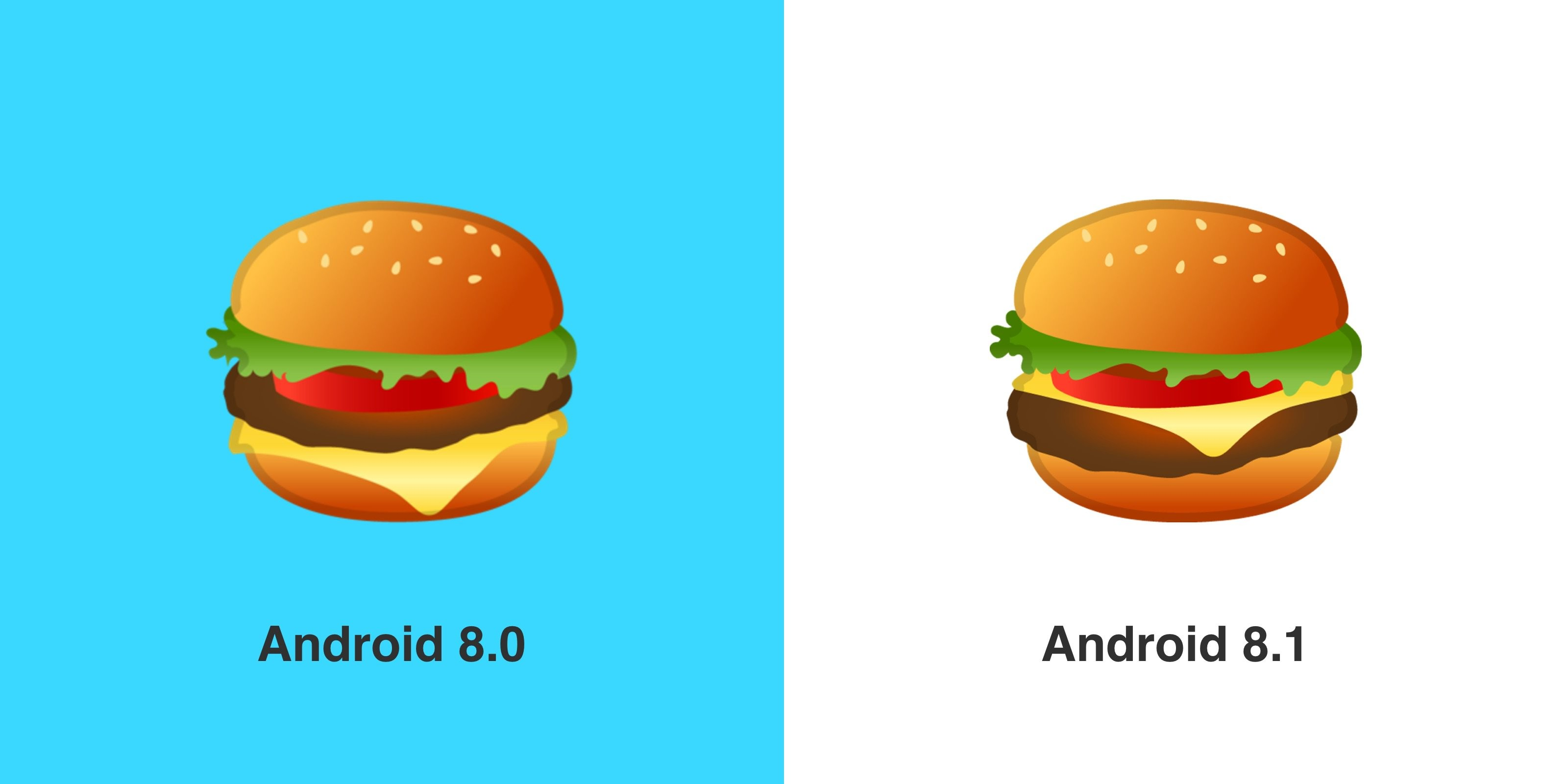 Google alters burger emoji, with cheese atop the patty