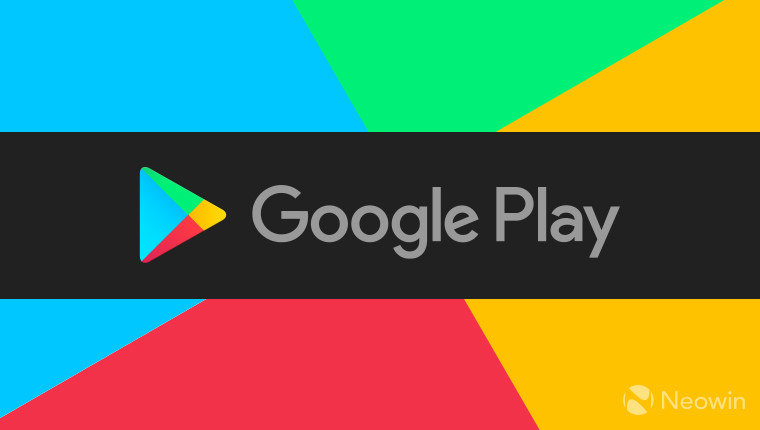 Google Play logo on a colorful background
