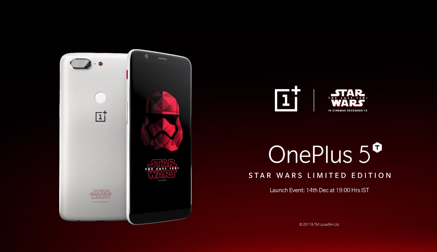 OnePlus announces special 5T Star War Limited Edition at Comic Con India